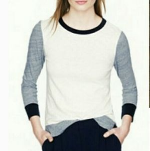 J Crew Colorblock Knit Artist Top
